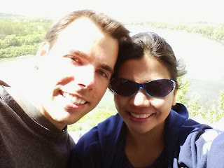 Ruby and Peter in Devin Castle, Slovakia