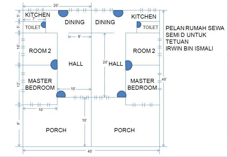 Tanaman organik pelan rumah semi d 1 for Arkitek home plans