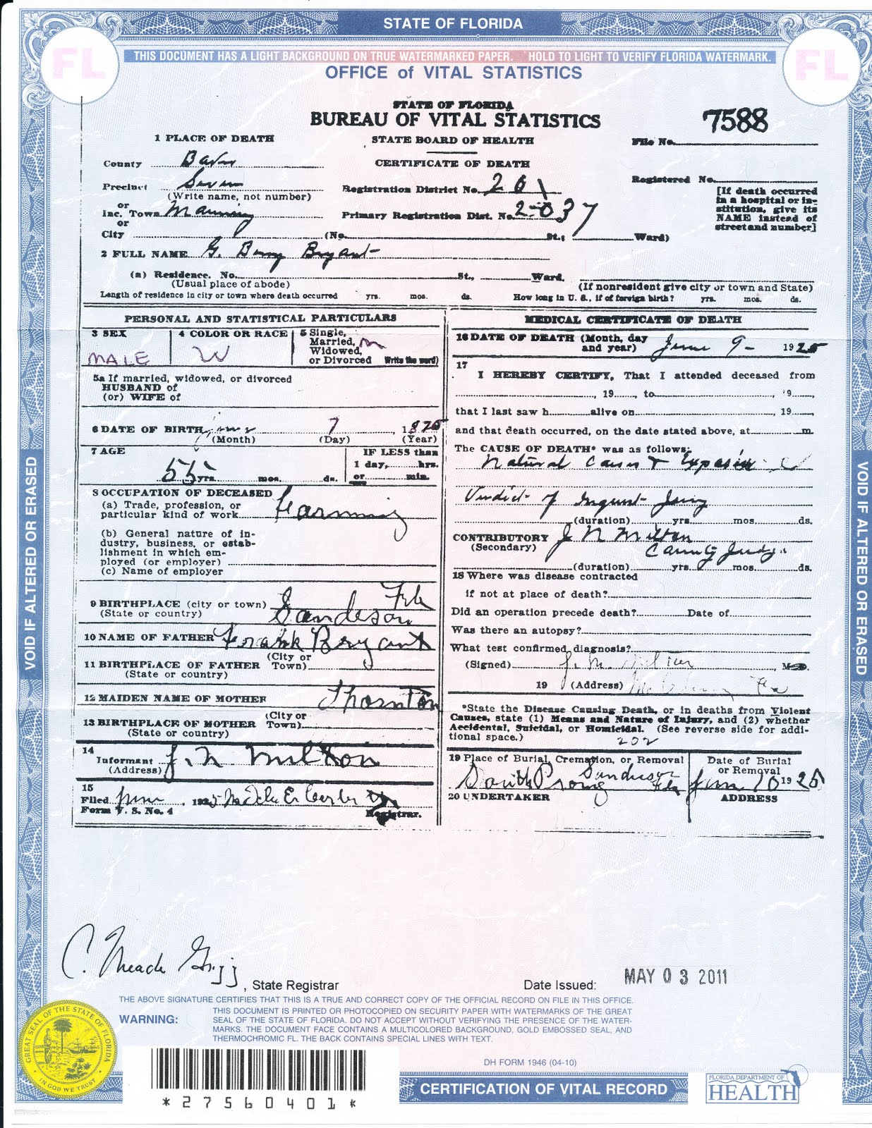 Broward county marriage certificates