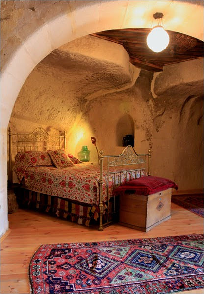 Laura Prusoff and Nurettin Mantar's House built into Caves in Turkey