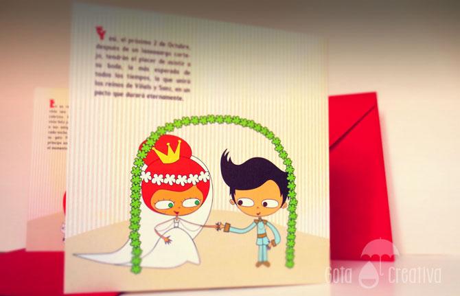invitacion boda jye gota creativa