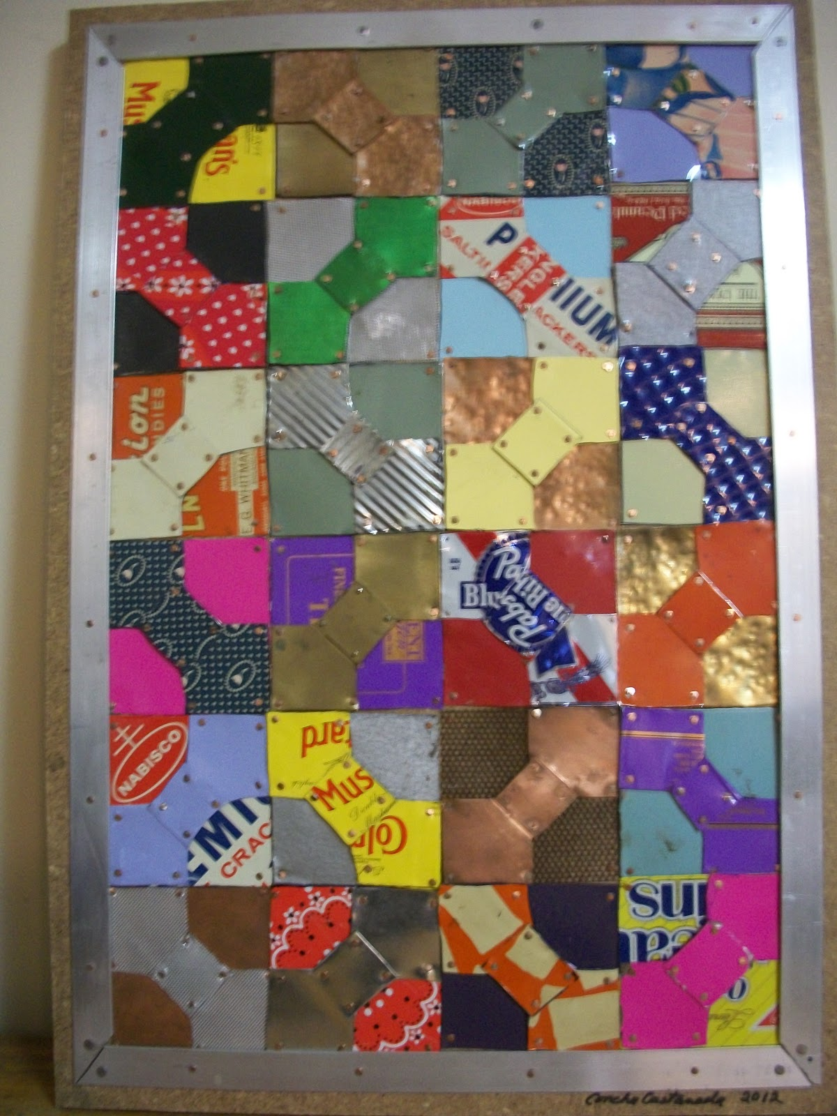 The Quilt of Elizabeth Brim a metal quilt by central Ohio artist Concha Castaneda.
