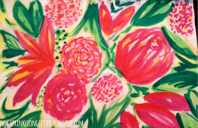 Magenta Garden- watercolor- write 31 days