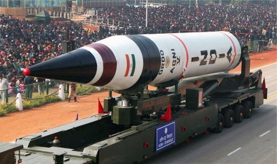 India's-Nuclear-Weapons-Agni-Missile