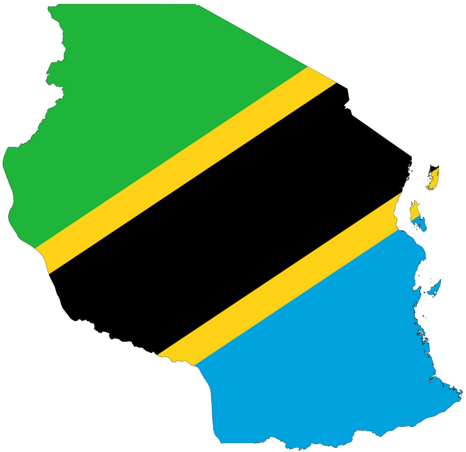 tanzania flag colors