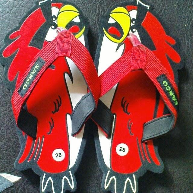 Sandal Sancu Red Bird