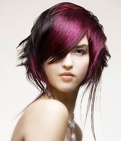 hair color violet black
