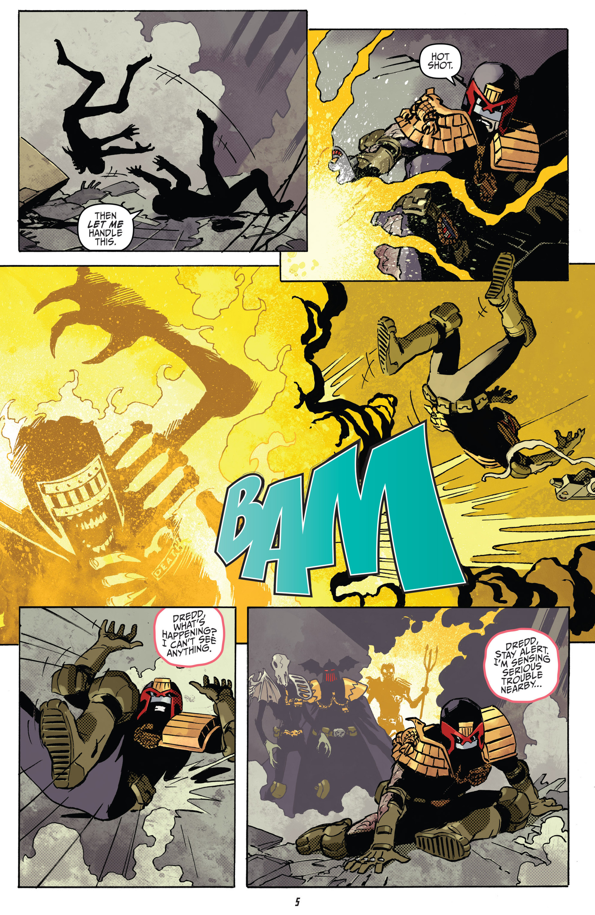 Read online Judge Dredd (2012) comic -  Issue #22 - 7