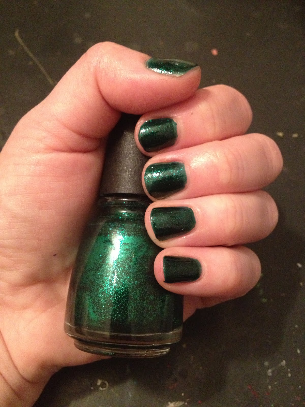 The beauty of life 12 days of favorite nail colors from jamie and china glaze china glaze emerald sparkle china glaze nail polish china glaze wizard nvjuhfo Gallery