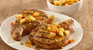 Grilled Pork chops with spice Pineapple Recipe | Healthy Pork Recipe
