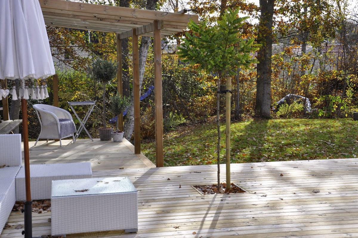 Husprojekt drömhus: projekt pergola påbörjad