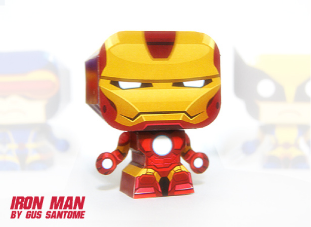 Fashion and action iron monday iron man diy paper toys - Mini iron man ...
