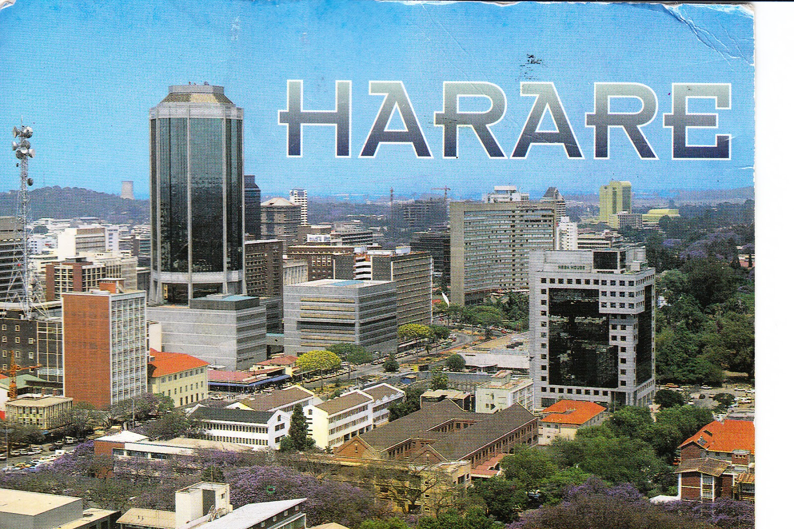 Harare Zimbabwe  city photos gallery : Here's a card of the skyline of Harare, Zimbabwe. Harare is the ...