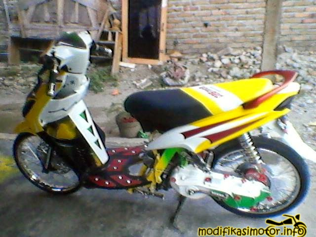 modifikasi motor mio chrome