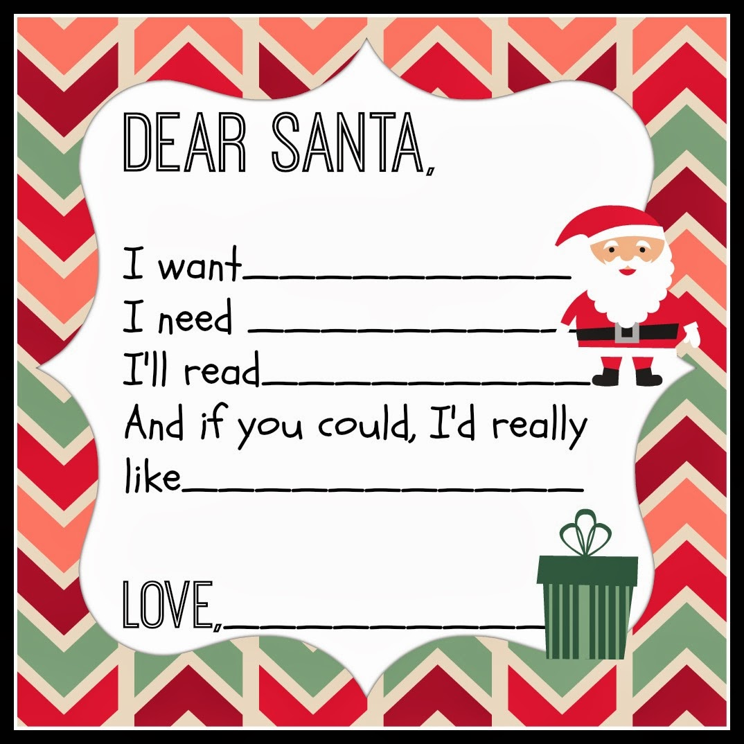 Dear Santa Printable - Walking on Sunshine