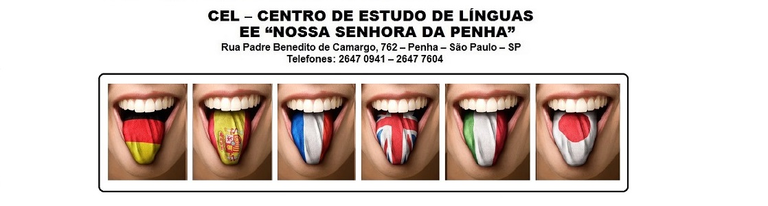 CEL PENHA - CENTRO DE ESTUDOS DE LÍNGUAS DA E.E. NOSSA SENHORA DA PENHA