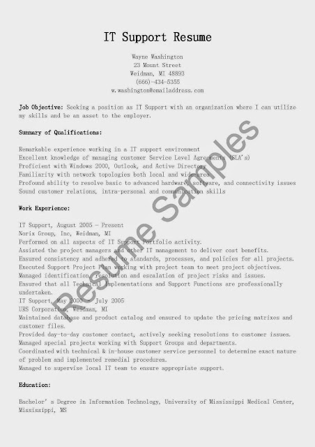 great sle resume resume sles it support resume sle