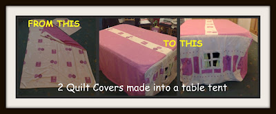 table tent upcycle