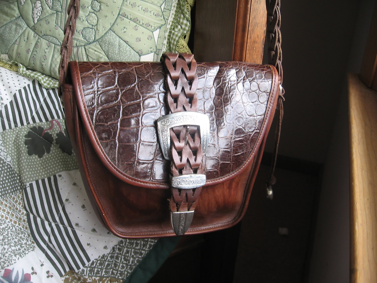 Vintage Brighton Mock Croc Purse