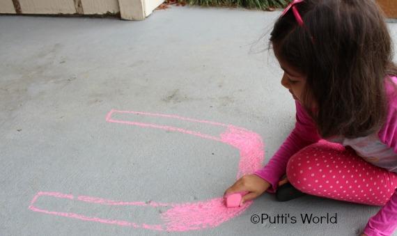 Valentine Kids Photo Card Creative Chalk drawing