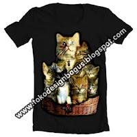 cara membuat desain kaos t-shirt lucu gambar binatang