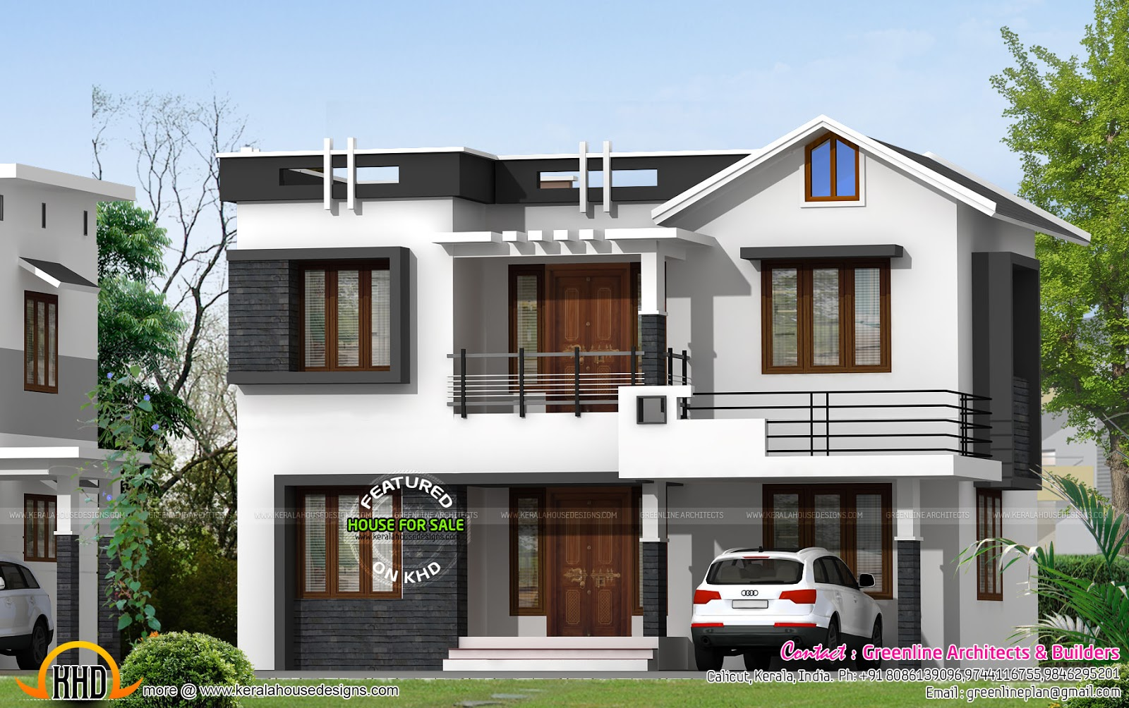 Villa for sale at calicut kerala kerala home design and for Kerala style villa plans