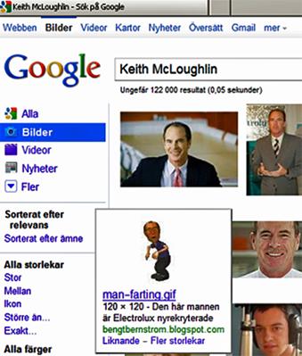 Google bild-sök, skärmdump 17 juni 2011.