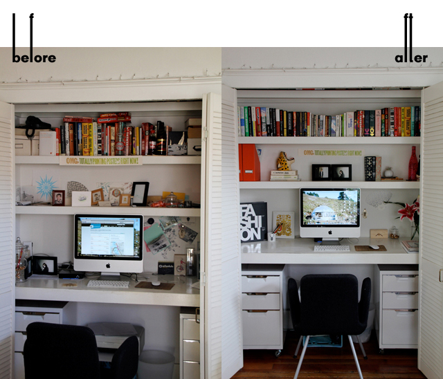 Closet Office Before & After