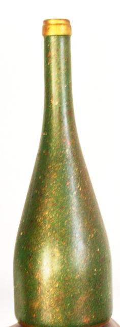 Reciclar botella vidrio pintado salpicado purpurinas y acrílicos