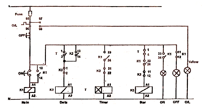 Electrical Topics  Automatic Star Delta Starter