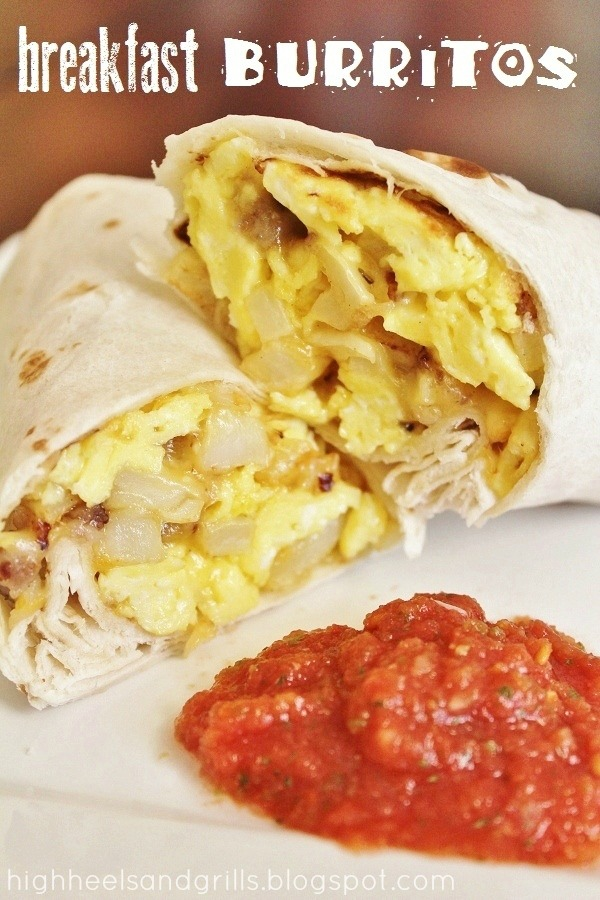 Breakfast Burritos - High Heels and Grills