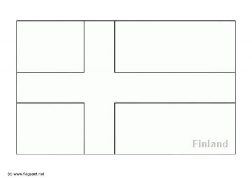 Mapa Y Bandera De Finlandia Para Dibujar Pintar Colorear