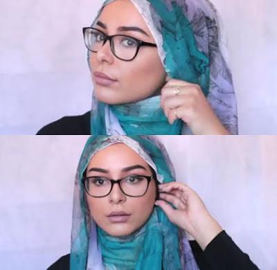 Tutorial Hijab Kombinasi Kacamata dan Anting Langkah Pertama