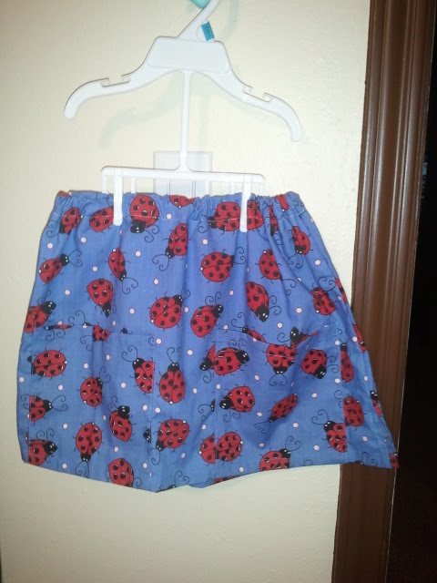 Sew Much Class Crafty Too Girls Skirt Made From Scrub Top