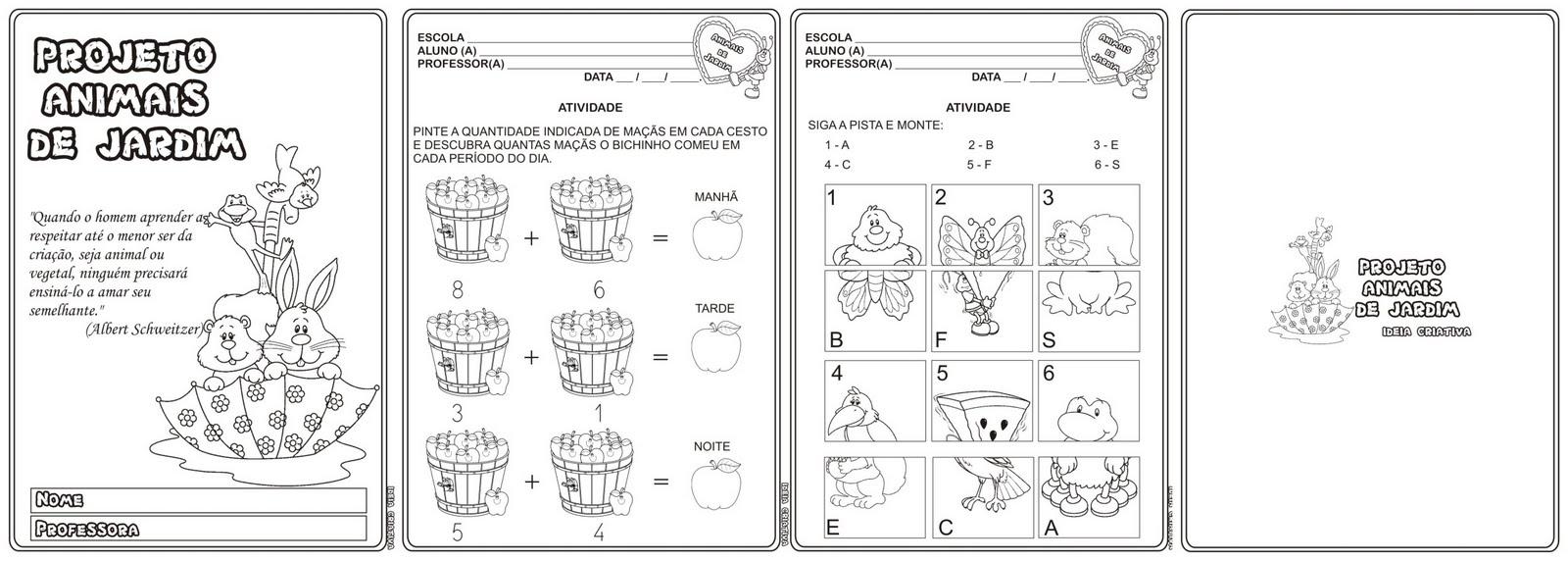 atividades alfabetizacao jardim horta pomar:Loja Ideia Criativa: Caderno de Atividades Projeto Animais de Jardim