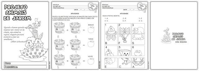 Caderno de Atividades Projeto Animais de Jardim