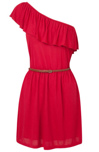 vestidos de escote asimétrico