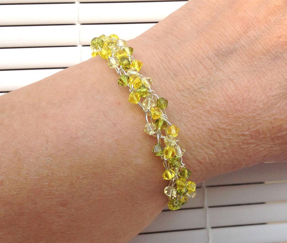 Zesty Wire Crochet Swarovski Crystal Braidlet