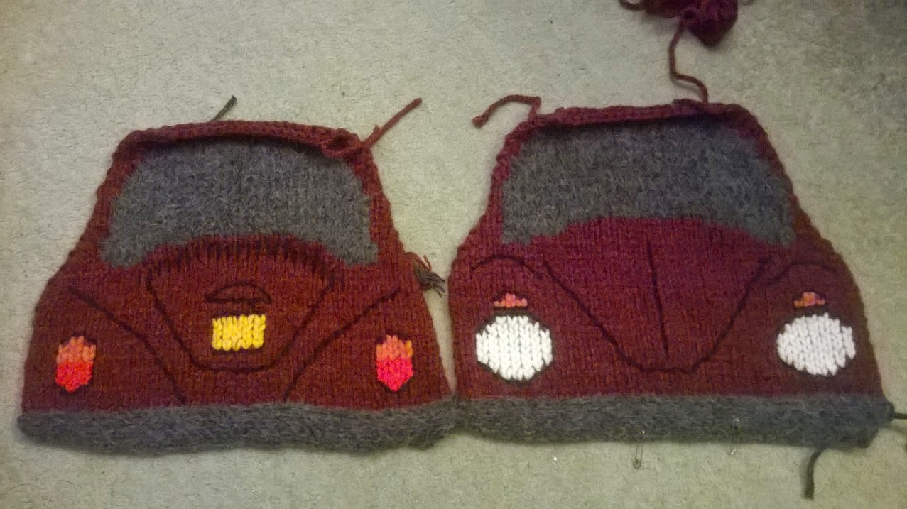 Cards By Chrissie: Knitted VW cushions