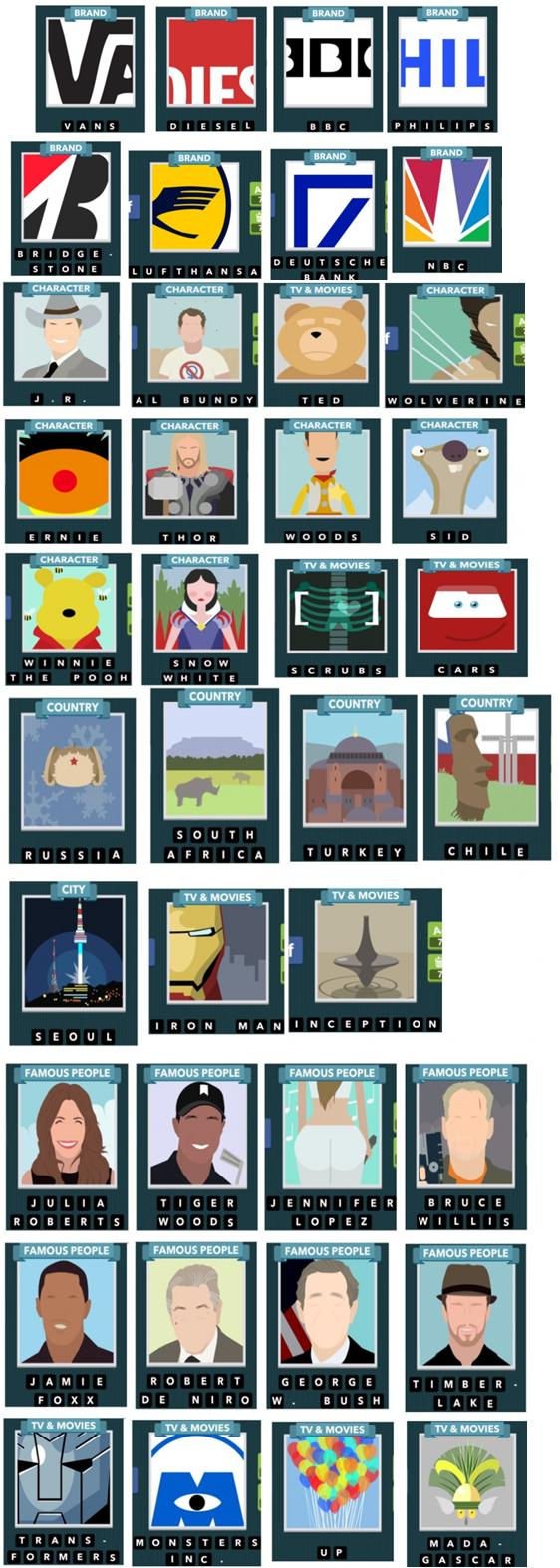 ... les solutions réponses des jeux android - iphone niveau par niveau