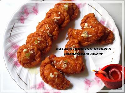 Chandrakala Sweet | சந்திரகலா இனிப்பு - Diwali Sweet