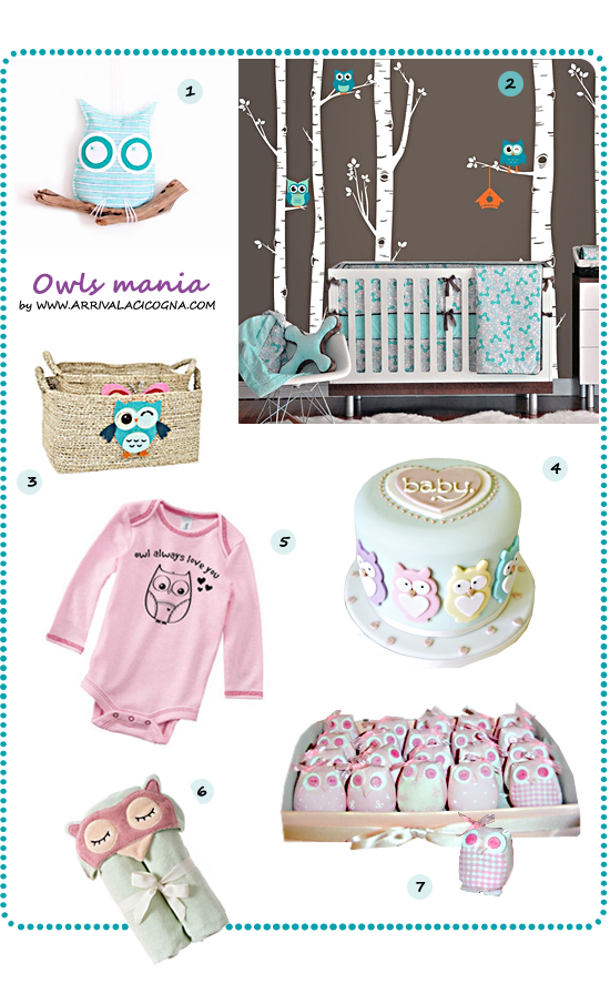 owls  mania for babies and kids