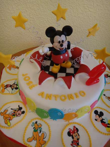 Las Tartas de Chari: Tarta Mickey Mouse para José Antonio
