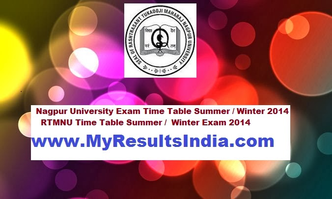 Rtmnu time table 2017 download online for ma ba bcom for Rtmnu time table 4th sem