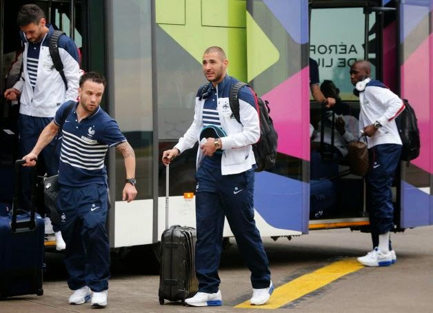 France arrives in Brazil
