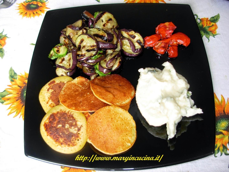 pancakes con farina di ceci