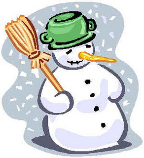 funny snowman Christmas decoration ideas with fez in hand and nose decorated as carrot clip art photo