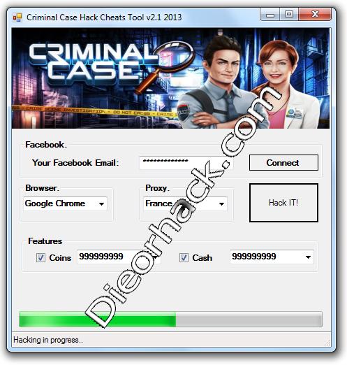 Criminal Case Hack Cheats Tool