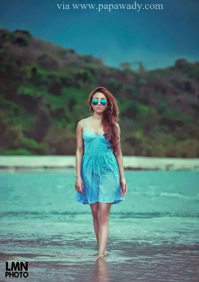 Nang Thiri Mg - Colorful Pretty Girl At Beach