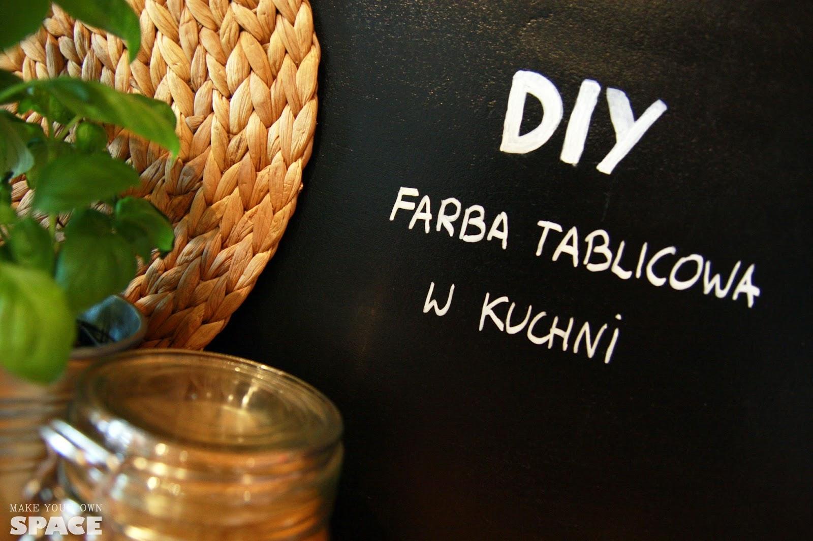 Farba tablicowa, farba tablicowa w kuchni, DIY, Farba tablicowa, Marker kredowy, kuchnia, ściana w kuchni, kuchnia design